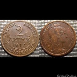 Ba 2 centimes Dupuis 1912