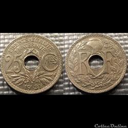 Fd 25 centimes EM Lindauer 1931 24mm 5g