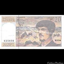 20 Francs Debussy