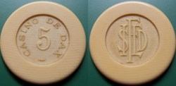 D1 jeton Casino de Dax 5 Francs SIFED