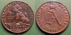 Belgique 1 Cent. 1912 des Belges