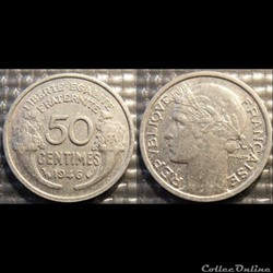 Ge 50 centimes Morlon 1946 18mm 0.7g