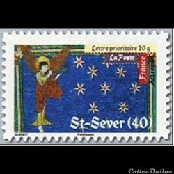 Timbre Peinture Abbaye de Saint Sever (40)