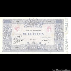 1000 Francs Bleu et Rose