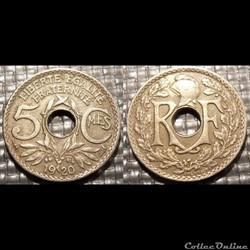 Cb 5 centimes EM Lindauer 1920 19mm 3g