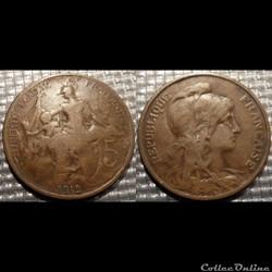 Ca 5 centimes Dupuis 1912