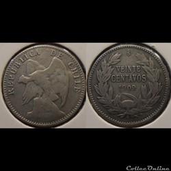 Chili 20 Centavos 1909