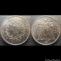 Lf 10 francs Hercule 1970 37mm 25g