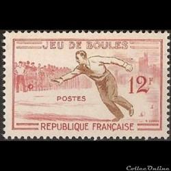 1958 Jeu de boules, joutes nautiques, tir à l'arc, lutte bretonne