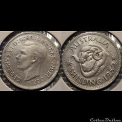 Australie 1 Shilling 1952