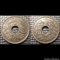 Fc 25 centimes EM Lindauer 1916 24mm 5g