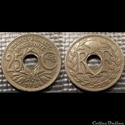 Fd 25 centimes EM Lindauer 1924 24mm 5g