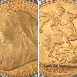 pièce reine victoria 1901