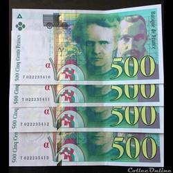 F.76.01 ( SUITE DE 4 Billets ) 1994