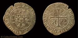 """Charles VII """"le Victorieux""""- Blanc aux C..."""