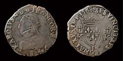 Charles IX - Teston au buste jeune