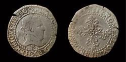 Henri III - Quart de Franc au col plat