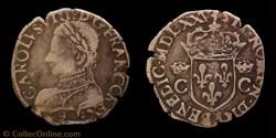 Charles IX - Demi Teston au buste jeune
