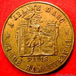 Médaille jeton publicitaire