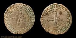 """Louis XI """"le Prudent""""- Blanc aux Courone..."""