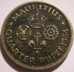 Elizabeth II - 1/4 Rupee 1964 - Mauritiu...