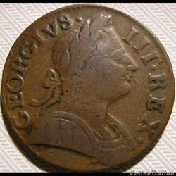 1775 Half Penny No Regal - George III of Great Britain (Ex.9)
