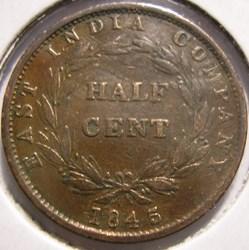 Victoria - Half Cent 1845 - Straits Sett...