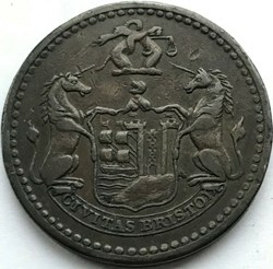 1811 One Penny Token, George III - Brist...