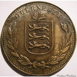 States of Guernsey - 8 Doubles 1920 H