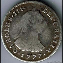 Peru - 1 Real 1777 Lima - Carlos III de ...