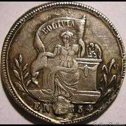1854 Potosi - Médaille, Al salvador de la Dignidad Nacional