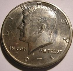 1971 Denver Half Dollar