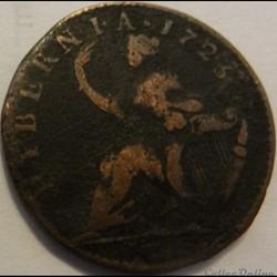 1723 Half Penny - Wood's Hibernia - Geor...