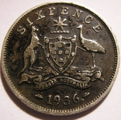 George V - Six Pence 1936 Melbourne - Au...