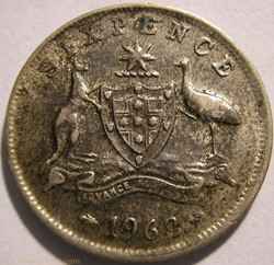 Elizabeth II - 6 Pence 1962 - Australia