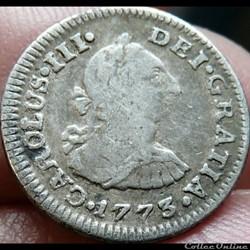 México - 1/2 Real 1773 FM - Carlos III d...
