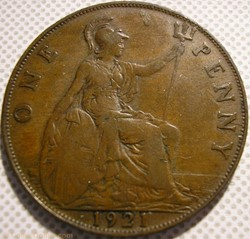 George V - One Penny 1921 - Great Britai...