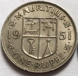 George VI - One Rupee 1951 - Mauritius