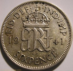George VI - 6 Pence 1941 - Great Britain