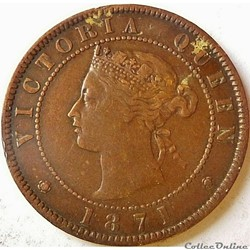 Victoria - One Cent 1871 - Prince Edward Island