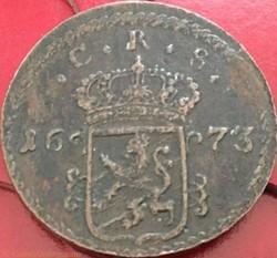 Sweden - Karl XI - 1 Öre Silvermynt 1673