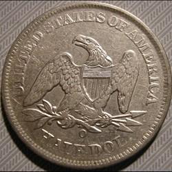 monnaie monde etat uni 1856 o half dollar