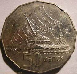 Elizabeth II - 50 Cents 1987 - Fiji