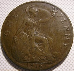 George V - One Penny 1916 - Great Britai...