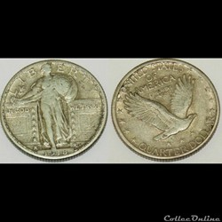 monnaie monde etat uni 1918 denver quarter dollar