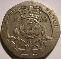 Elizabeth II - 20 Pence 1993 - UK