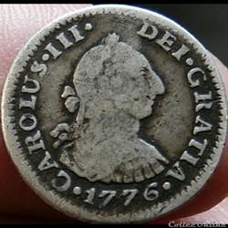 México - 1/2 Real 1776 FM - Carlos III d...