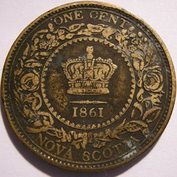 Victoria - One Cent 1861 - Nova Scotia (...