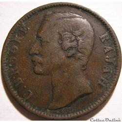 Charles Brooke - One Cent 1885 - Rajah of Sarawak