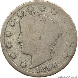 1894 5 Cents